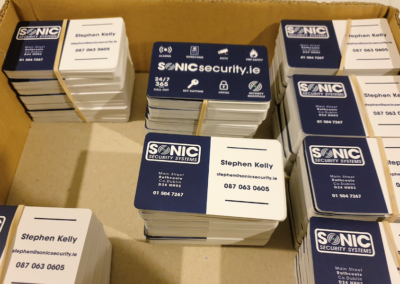 Sonic Security Systems Business Cards