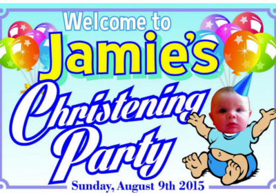 Christening Party Banner