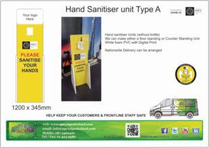 hand sanitiser unit dublin
