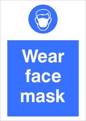 Safety Sign - Wear face mask