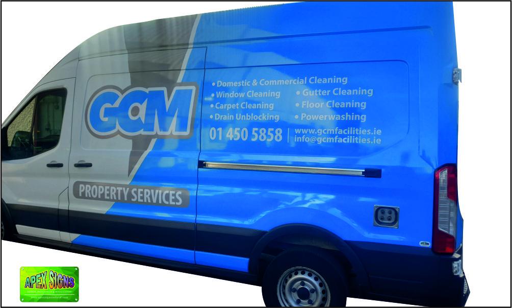 GCM Property Maintenance Van Partial Wrap