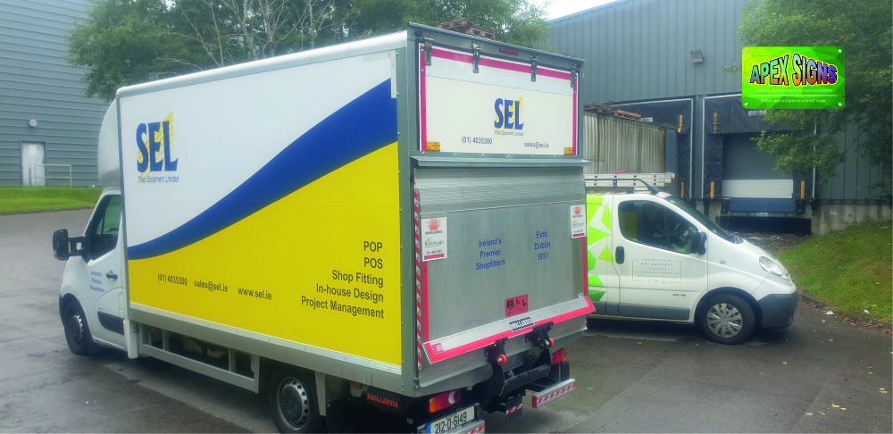 Vehicle branding advertising on all of your vehicles is a great way to promote your business 24/7