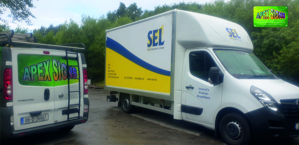Shop Equipment Limited - SEL.ie vehicle branding fitted over the bank holiday weekend by the crew @apexsignsireland Helping to keep your brand visible and moving forward.